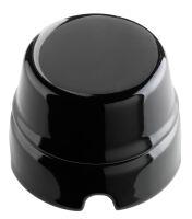 Nera - scatola di derivazione in porcellana smaltata nera