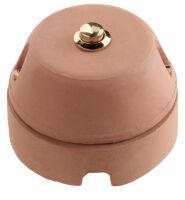 Eurocotto - pulsante con tasto ottonato in cotto