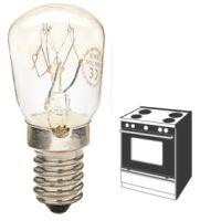 Lampada incandescenza tubolare trasparente E14 15W 230V per forni