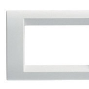 Playbus - placca in tecnopolimero 6 posti bianco nuvola