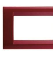 PLAYBUS 6 GANG CLASSICAL BURGUNDY PLATE
