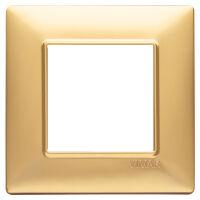 Plana - placca in tecnopolimero 2 posti oro opaco