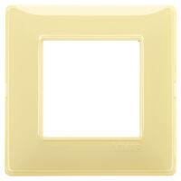 Plana - placca in tecnopolimero 2 posti reflex cedro
