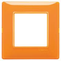 Plana - placca in tecnopolimero 2 posti reflex arancio