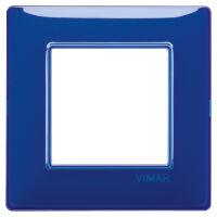 Plana - placca in tecnopolimero 2 posti reflex zaffiro