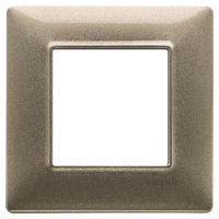 Plana - placca in metallo 2 posti bronzo metallizzato