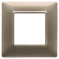 Plate 2M metal metallized bronze