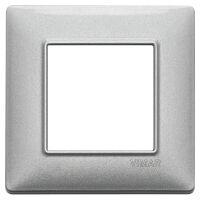 Plana - placca in metallo 2 posti argento metallizzato