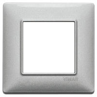 Plate 2M metal metallized silver