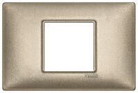 Plate 2centrM metal metallized bronze
