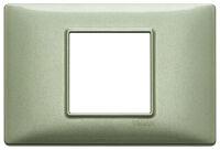 Plate 2centrM met. metallized green