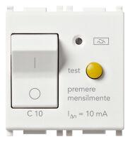 Plana - interruttore differenziale magnetotermico 1P+N C 10 In 0,01