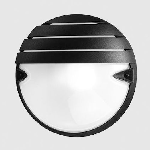Prisma 005747 Plafoniera Chip Tondo 25 Grill Nera E27 21w