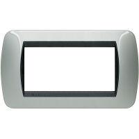 Living International - placca Metallic in metallo 4 posti alluminio chiaro