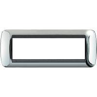 Living International - placca Lucenti in metallo 7 posti cromo lucido