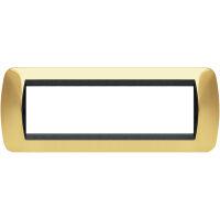 Living International - placca Lucenti in metallo 7 posti oro