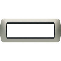 Living International - placca Metallic in metallo 7 posti titanio chiaro