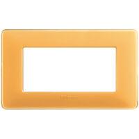 Màtix Cover plate 4 mod. Colors amber