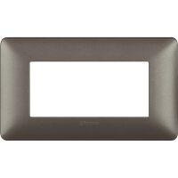 Matix - placca Metallics in tecnopolimero 4 posti colore iron