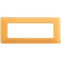 Màtix Cover plate 6 mod. Colors amber
