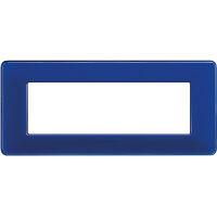 Matix - placca Colors in tecnopolimero 6 posti colore cobalto