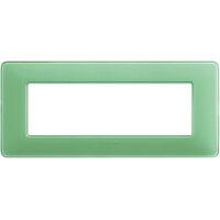 Matix - placca Colors in tecnopolimero 6 posti colore te verde