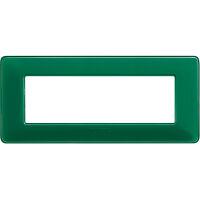 Matix - placca Colors in tecnopolimero 6 posti colore smeraldo