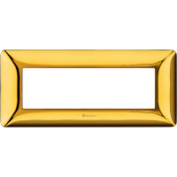 Matix - placca Galvanics in tecnopolimero 6 posti colore oro lucido