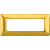 Matix - placca Galvanics in tecnopolimero 6 posti colore oro satinato