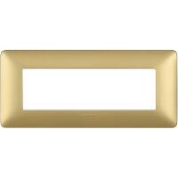 Matix - placca Metallics in tecnopolimero 6 posti colore gold