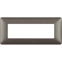 Matix - placca Metallics in tecnopolimero 6 posti colore iron