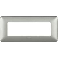 Màtix Cover plate 6 mod. silver