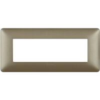 Matix - placca Metallics in tecnopolimero 6 posti colore titanium