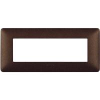 Màtix Cover plate 6 mod. coffee brown