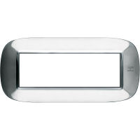 BTicino HB4806AXL - cover pl. 6m gloss steel