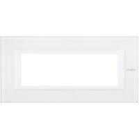 Axolute - placca rettangolare Bianchi 6 posti vetro bianco