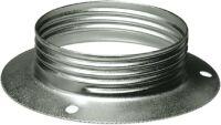 Anello E27 metallo fermaparalume zincato bianco