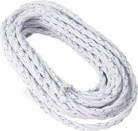 Cavo a treccia in cotone bianco 4G1.5 - 50mt
