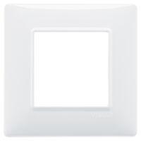 Plana - placca in tecnopolimero 2 posti bianco