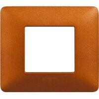 Matix - placca Textures in tecnopolimero 2 posti colore rosso terra