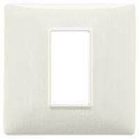 Plana - placca in tecnopolimero 1 posto bianco granito