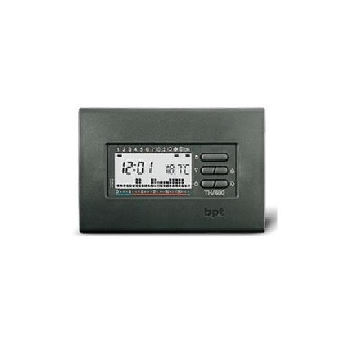 Bpt 69404300 cronotermostato da parete grigio th 400 gr for Bpt thermoprogram th 24 prezzo