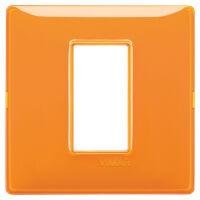 Plana - placca in tecnopolimero 1 posto reflex arancio
