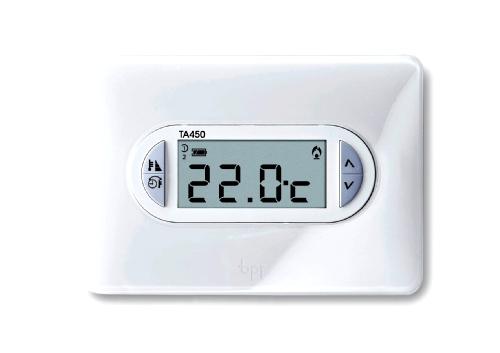 Bpt 69400020 termostato ambiente da parete ta 450 bianco for Bpt thermoprogram th 24 prezzo