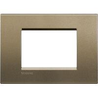 LivingLight - placca Silk quadra in metallo 3 posti square
