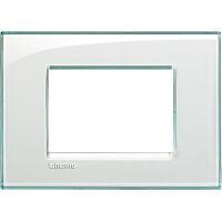 LivingLight - placca Kristall quadra in tecnopolimero 3 posti acquamarina
