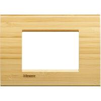 LivingLight - placca Essenze quadra in legno massello 3 posti bamboo