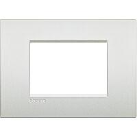 LivingLight Air - placca Neutri in metallo 3 posti bianco perla