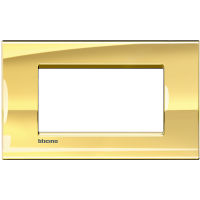 LL - cover plate 4P shiny pink gold