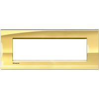 LivingLight - placca Metals quadra in metallo 7 posti oro freddo